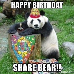 Happy Birthday Panda - Happy Birthday Share Bear!!