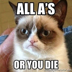 Grumpy Cat  - all a's Or you die