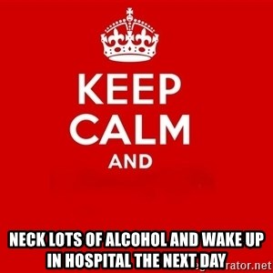 Keep Calm 2 - Neck lots of alcohol and wake up in hospital the next day