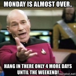 Why the fuck - Monday is almost over.. hang in there only 4 more days until the weekend!