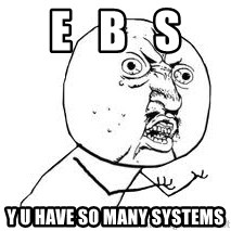 Y U SO - E   B   S Y U HAVE SO MANY SYSTEMS