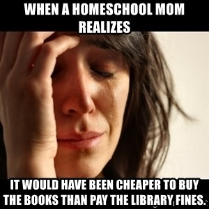 crying girl sad - When a homeschool mom realizes It would have been cheaper to buy the books than pay the library fines.