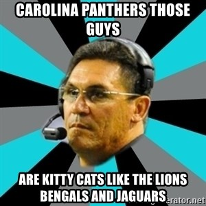 Stoic Ron - Carolina panthers those guys  Are kitty cats like the lions bengals and jaguars