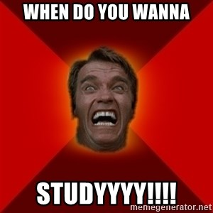 Angry Arnold - When do you wanna Studyyyy!!!!