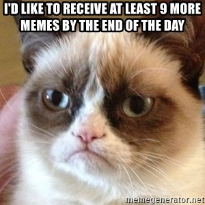 Angry Cat Meme - I'd like to receive at least 9 more memes by the end of the day