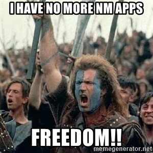 Brave Heart Freedom - I have no more NM apps freedom!!