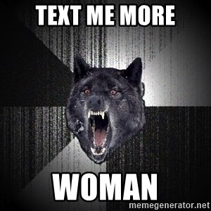 Insanity Wolf - Text me more Woman