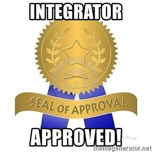official seal of approval - integrator Approved!
