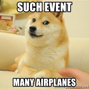 so doge - Such event Many airplanes