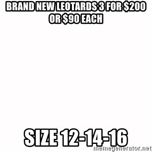 fondo blanco white background - Brand New Leotards 3 for $200 or $90 each Size 12-14-16