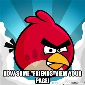"Angry Bird - How Some ""FRIENDS""View Your Page!"