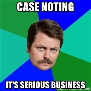 Advice Ron Swanson - case noting it's serious business