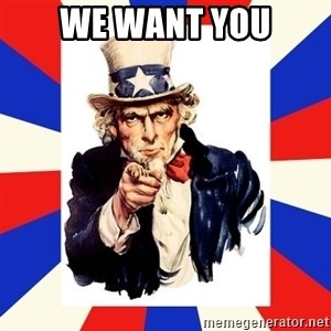 uncle sam i want you - We want you