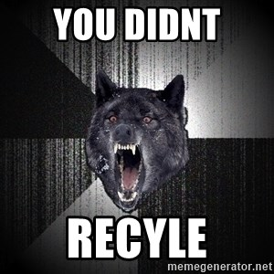 Insanity Wolf - YOU DIDNT  RECYLE