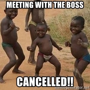Dancing African Kid - Meeting with the boss cancelled!!