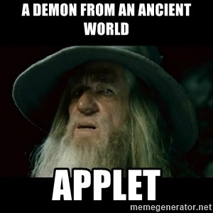 no memory gandalf - A demon from an ancient world APPLET