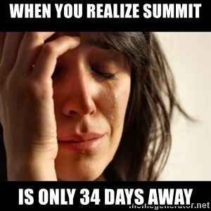 crying girl sad - When you realize Summit Is only 34 days away