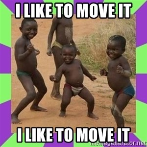 african kids dancing - I like to move it  i like to move it