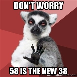 Chill Out Lemur - Don't worry 58 is the new 38