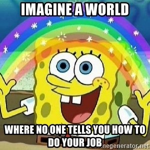 Imagination - imagine a world where no one tells you how to do your job