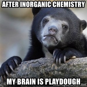 Confession Bear - After inorganic chemistry My brain is playdough