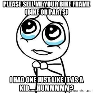 Please guy - Please sell me your bike frame (bike or parts) I had one just like it as a kid......hummmmm?