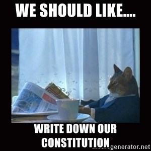 i should buy a boat cat - We should like.... Write down our constitution