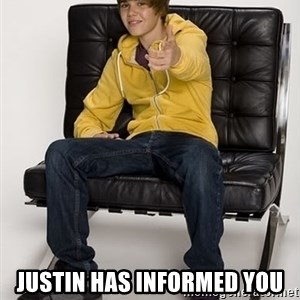 Justin Bieber Pointing - Justin has informed you