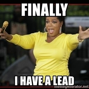 Overly-Excited Oprah!!!  - finally i have a lead