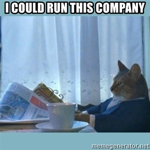rich cat  - I could run this company