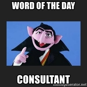 The Count from Sesame Street - word of the day consultant