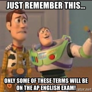 Buzz - Just remember this... Only some of these terms will be on the AP English Exam!