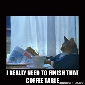 i should buy a boat cat - I really need to finish that coffee table