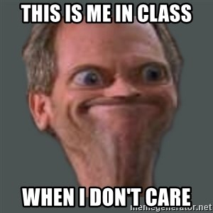Housella ei suju - this is me in class when i don't care
