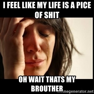 First World Problems - i feel like my life is a pice of shit oh wait thats my  brouther