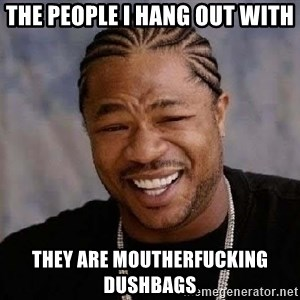 Yo Dawg - the people i hang out with they are moutherfucking dushbags