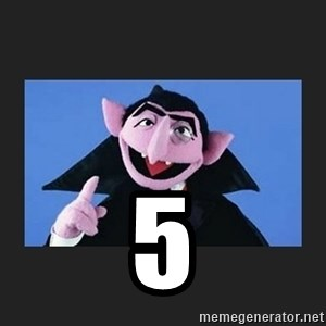 The Count from Sesame Street - 5