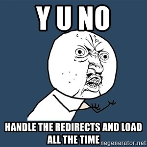 Y U No - Y U NO handle the redirects and load all the time