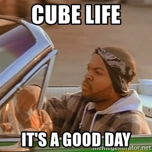 Good Day Ice Cube - Cube life it's a good day