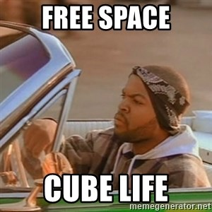 Good Day Ice Cube - free space cube life