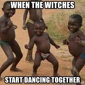 african children dancing - when the witches start dancing together
