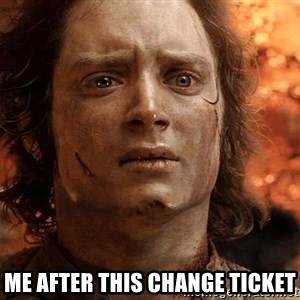 Frodo  - me after this change ticket