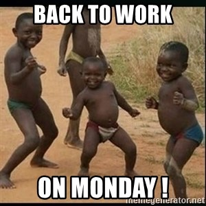 Dancing black kid - back to work on monday !