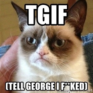Grumpy Cat  - TGIF (Tell George I f**ked)