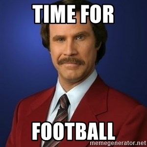 Anchorman Birthday - Time for football