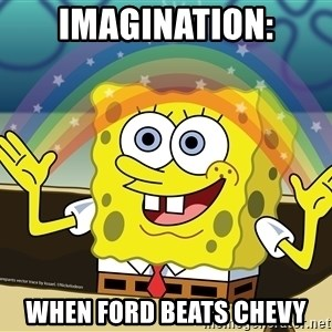 spongebob rainbow - imagination: when ford beats chevy