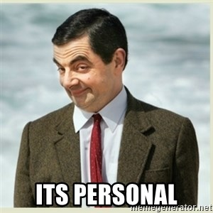 MR bean - its personal