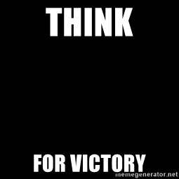Blank Black - think for victory