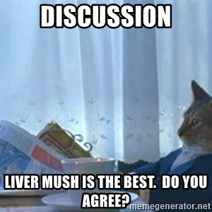 newspaper cat realization - Discussion Liver mush is the best.  Do you agree?