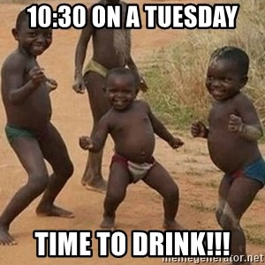 Dancing African Kid - 10:30 on a Tuesday Time to drink!!!